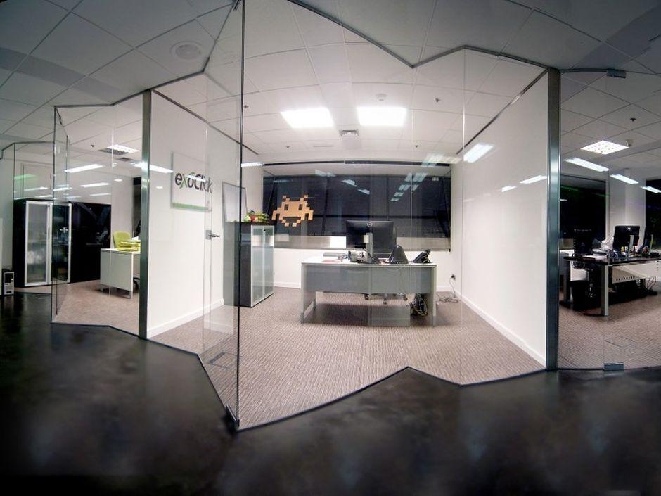 Cerramientos y paredes de cristal la cristaler a de m laga - Oficinas bankia malaga ...