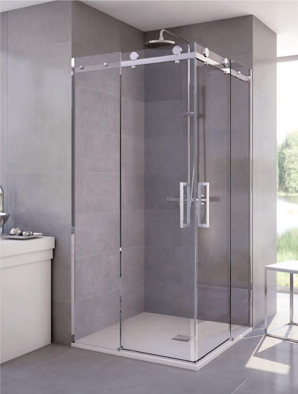 Mamparas de ducha la cristaler a de m laga for Mamparas plegables para ducha